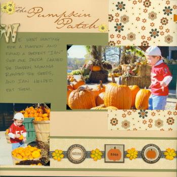 Scrapbooking Page Idea Pumpkin Patch