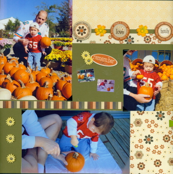 Scrapbooking Page Idea Pumpkin Patch