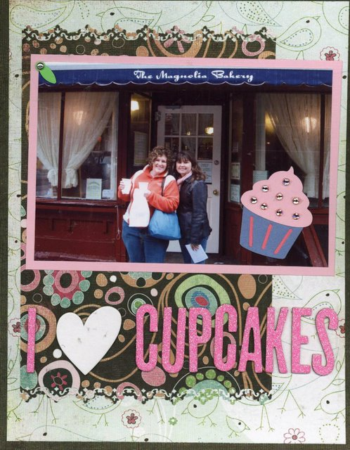 Scrapbooking Page Ideas I Heart Cupcakes