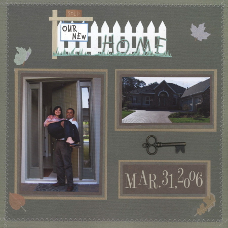 Scrapbooking Page Ideas New Home