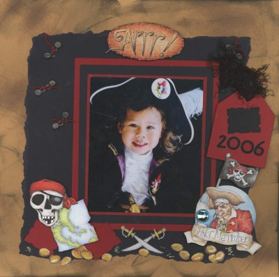 Scrapbooking Page Ideas Buccaneers Layout
