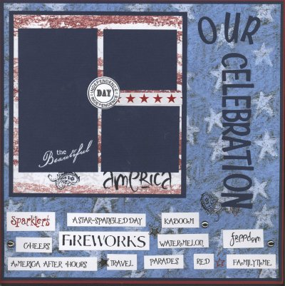 Scrapbooking Page Ideas Our Celebration Layout