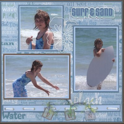 Scrapbooking Page Ideas H2O Fun Layout
