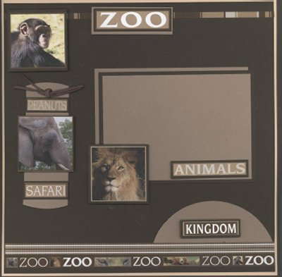 Scrapbooking Page Ideas Applegate Zoo Layout