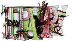 Scrapbooking Page Ideas Happy Word Album