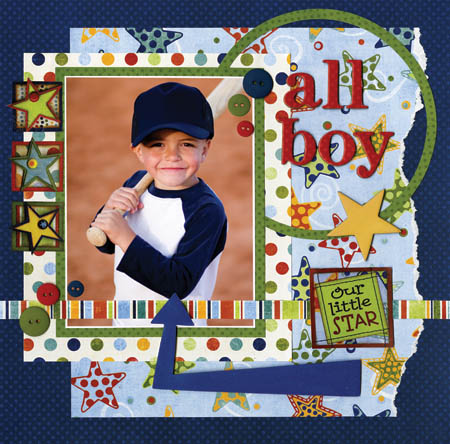 Scrapbooking Page Ideas All Boy