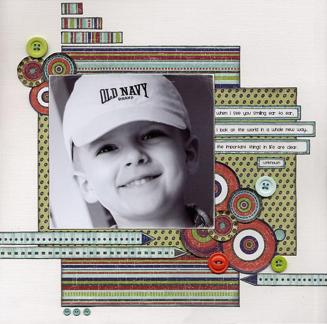 Scrapbooking Page Ideas A Smile