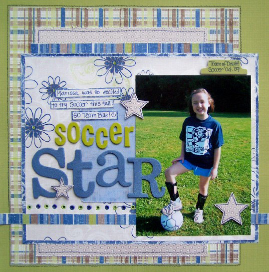 Scrapbooking Page Ideas Soccer Star