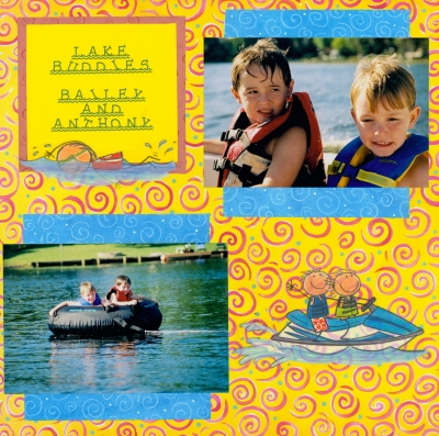 Scrapbooking Page Idea Lake Buddies