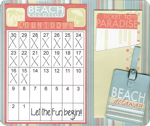 Scrapbooking Page Ideas Vacation Calendar Countdown