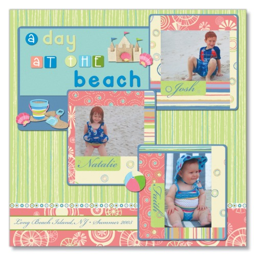 Scrapbooking Page Ideas Beach Day
