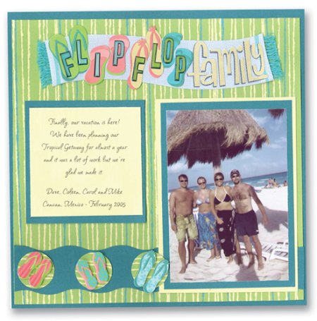 Scrapbooking Page Ideas Flip Flop Family