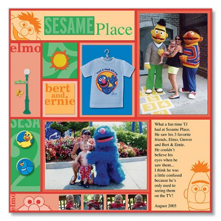 Scrapbooking With Love Sesame Place Page