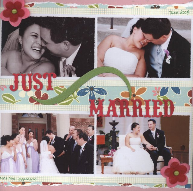 Scrapbooking Page Ideas Just Married