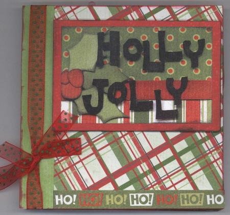 Scrapbooking With Love - Holly Jolly Boardbook Album