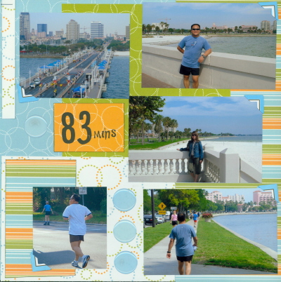 Scrapbooking Page Ideas Bay To Bay 12K Run