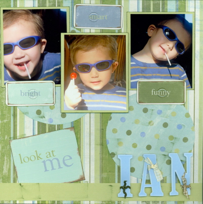 Scrapbooking Page Ideas Ian in Shades