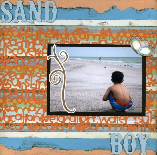 Scrapbooking Page Ideas Sand Boy