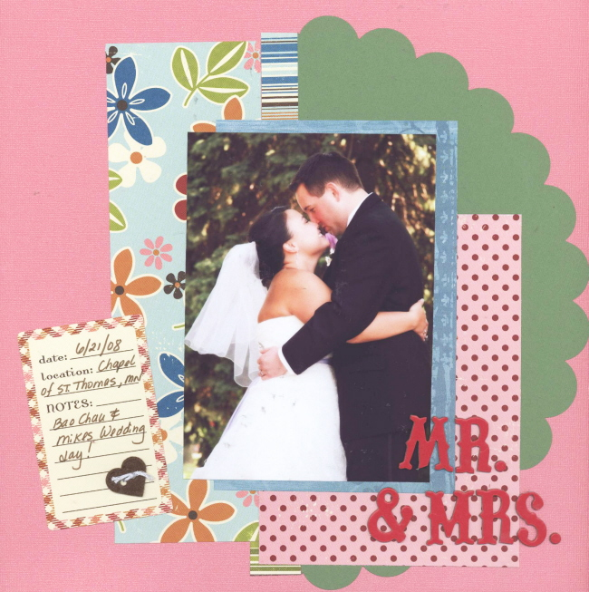 Scrapbooking Page Ideas Mr & Mrs