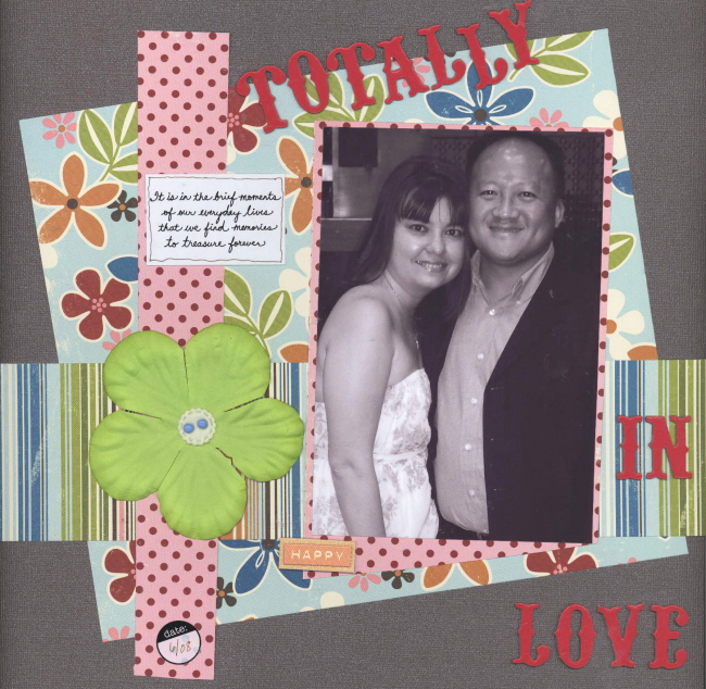 Scrapbooking Page Ideas Totally in Love