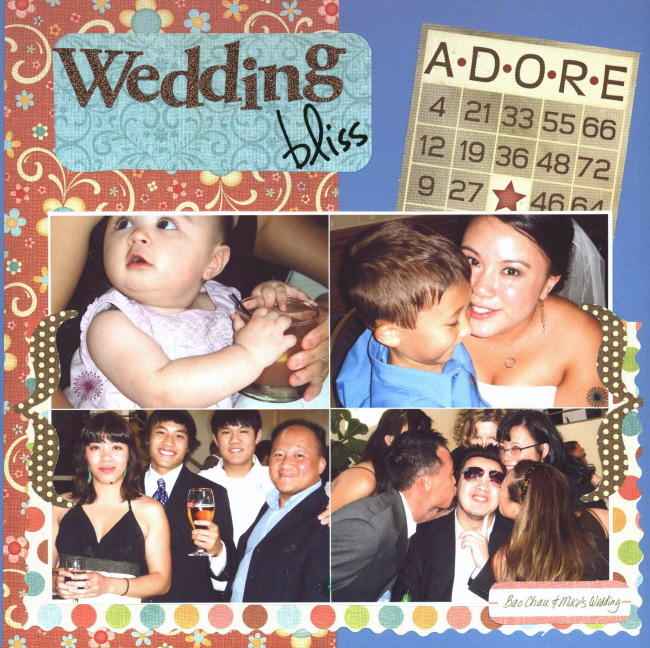 Scrapbooking Page Ideas Wedding Bliss