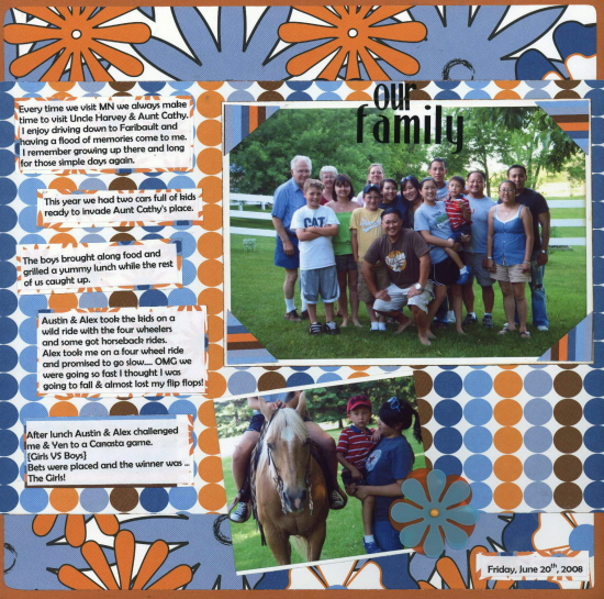 Scrapbooking Page Ideas Our Family