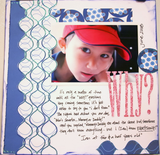 Scrapbooking Page Ideas Why