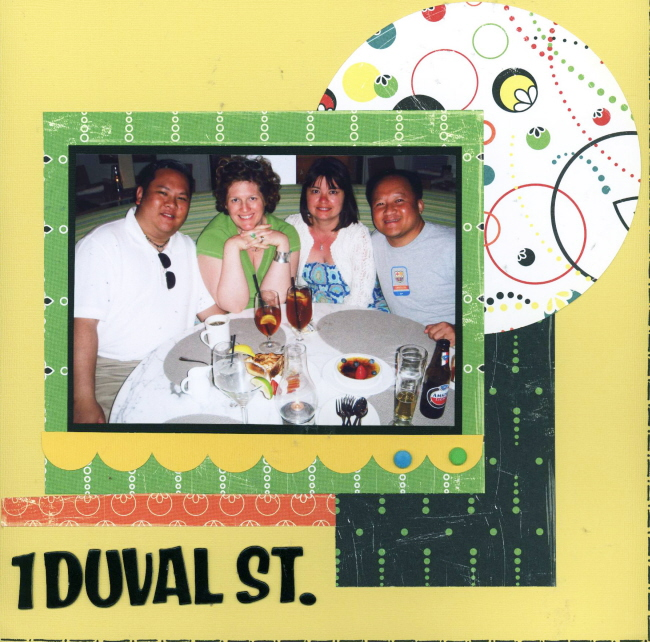 Scrapbooking Page Ideas 1 Duval St