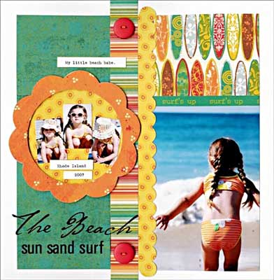 Scrapbooking Page Ideas The Beach