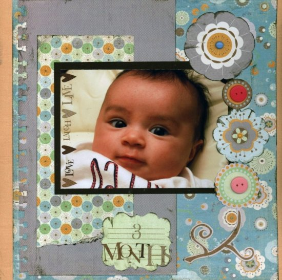Scrapbooking Page Ideas 3 Months