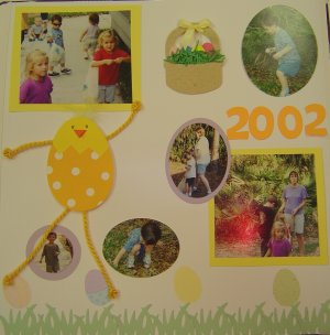 Baby Scrapbook Page Idea
