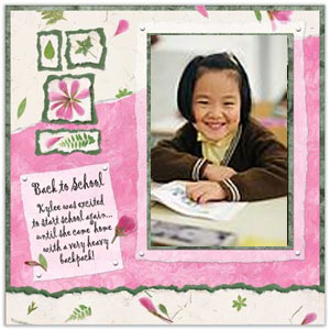Back to School Scrapbook Page Idea