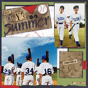 Baseball Scrapbooking Ideas