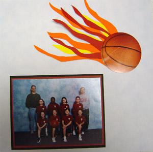 Basketball Page Scrapbook