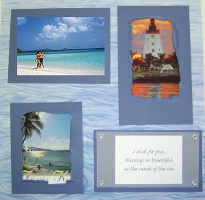 Beach Layout Scrapbook