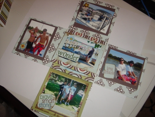 Scrapbooking Page Ideas Cotton Shop Memory Box Kit
