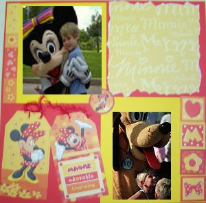 Disney idea layout scrapbook