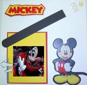 Disney Layout Scrapbook