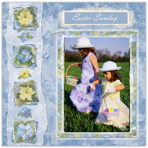 Easter Sunday Scrapbooking Idea