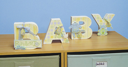 Scrapbooking Home Deocr Ideas Baby Letters