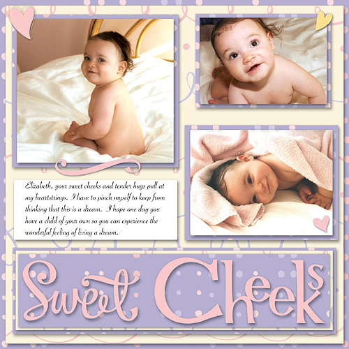 Scrapbooking Page Ideas Sweet Cheeks