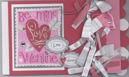 Scrapbooking Page Ideas Be My Valentine Notepad