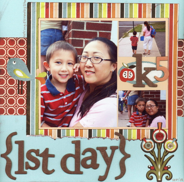Scrapbooking Page Ideas 1st Day of School
