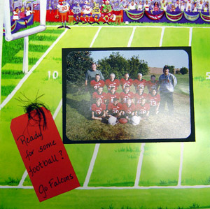Football Scrapbooking