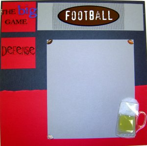 Football Scrapbook Ideas