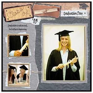 Graduation Scrapbook Page Idea