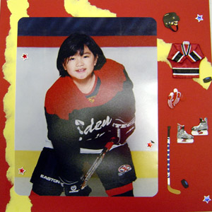 Hockey Scrapbooking Idea