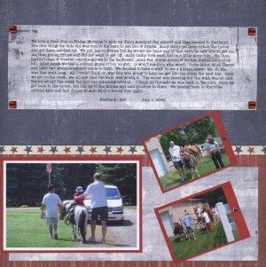July 4th scrapbook page idea