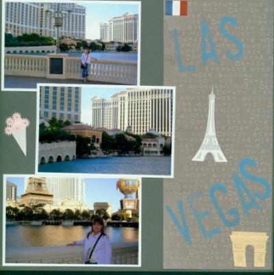 Scrapbooking Page Idea Las Vegas 2005