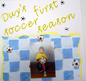 Soccer Scrapbooking - Sports Idea